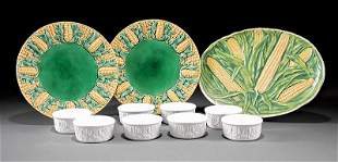 Corn Motif Majolica and Earthenware