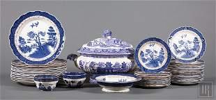 Associated Blue Willow Dinner Service