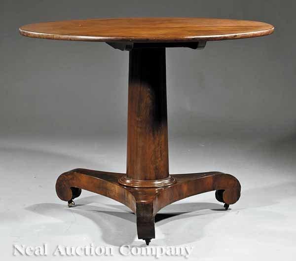 0005: American Classical Mahogany Tilt-Top Table