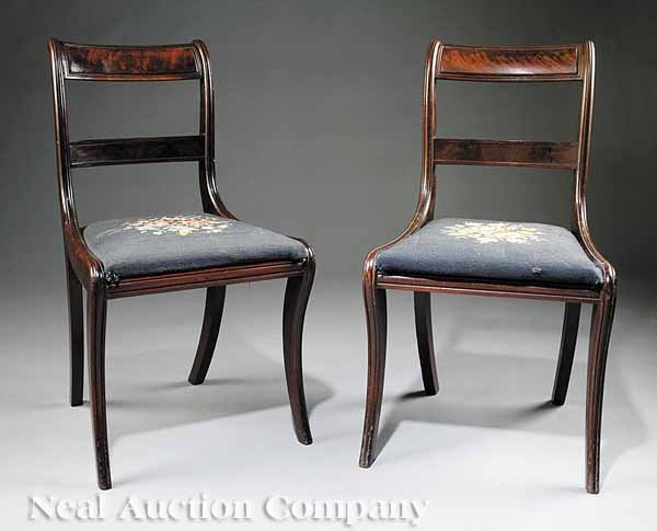 0023: Four American Classical Mahogany Side Chairs - 2