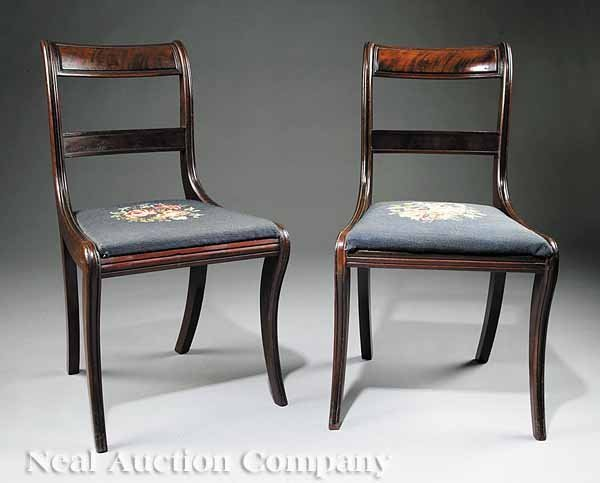 0023: Four American Classical Mahogany Side Chairs - 3