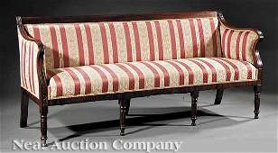 0147 Connelly and Haines Carved Mahogany Sofa