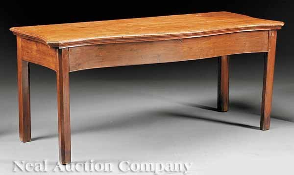 0660: George III Carved Mahogany Console