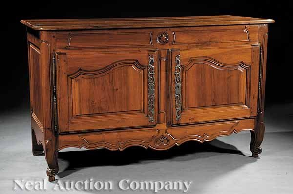 0661: French Provincial Carved Fruitwood Buffet