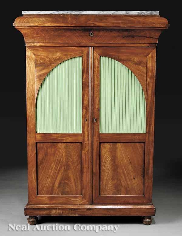 0662: Biedermeier Walnut Bookcase