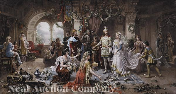 "976A: Color Lithograph of ""The Wedding"""