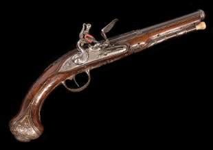 Liègeois 28-Bore Flintlock Pistol