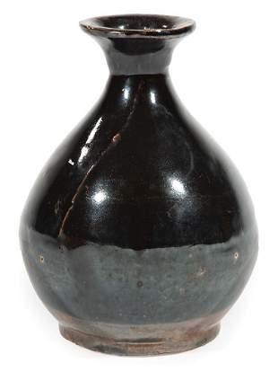 Chinese Glazed Pottery Bottle Vase