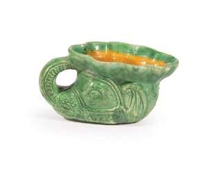 Chinese Glazed Pottery Elephant-Head Rhyton