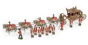 Britains Painted Lead Coronation Coach Set