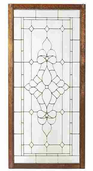 Three American Leaded Glass Windows