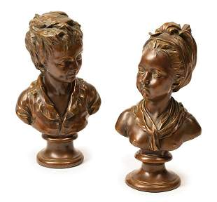 Bronze Busts Marie-Louise & Alexandre Brongniart