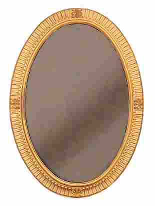 French Carved Creme Peinte, Giltwood Pier Mirrors