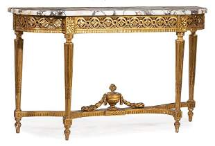 Louis XVI-Style Carved and Giltwood Console