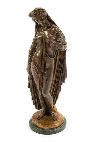 "Patinated Bronze Figure of ""Pandora"""