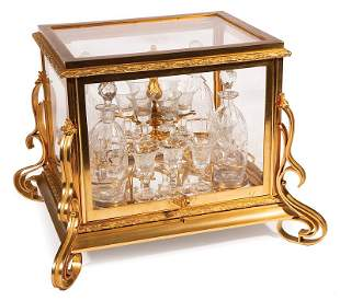 Gilt Bronze and Crystal Cave a Liqueur
