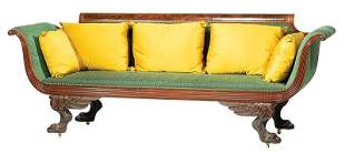 Classical Carved Mahogany Sofa, poss. Phyfe