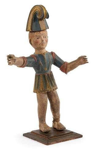 Antique Italian Carved Wood Figure