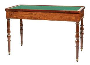 William IV Mahogany Tric-Trac Table