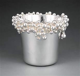 "Fine Tane ""Burbujas"" Sterling Silver Ice Bucket"