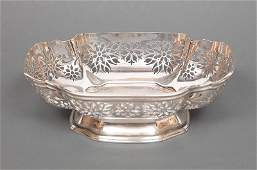 American Sterling Silver Reticulated Footed Bowls