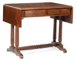 American Rosewood Drop-Leaf Library Table