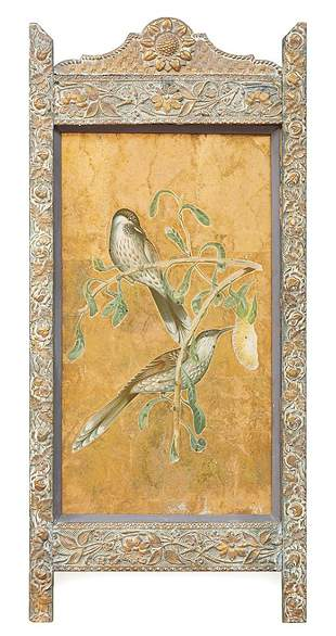 Pair of Antique English Decoupage Panels