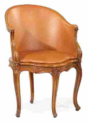 Louis XV-Style Fruitwood Bergere