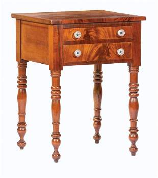 American Federal Mahogany Work Table