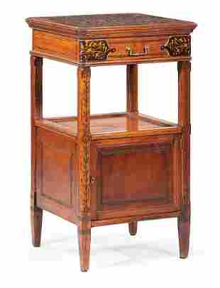 Aesthetic Movement Cherrywood Marquetry Commode