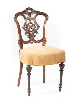 Rosewood Parlor Chair, prob. Meeks