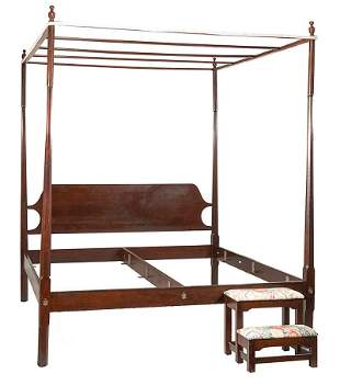 Federal-Style Mahogany Pencil-Post Tester Bed
