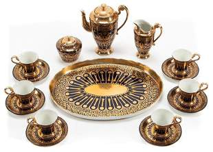 Sevres-Style Gilt Porcelain Coffee Service