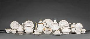 Assembled Paris Porcelain Tea and Dessert Service