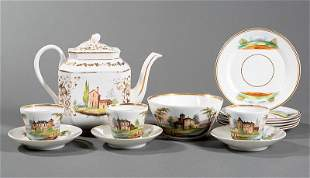 Partial Paris Porcelain Tea Service