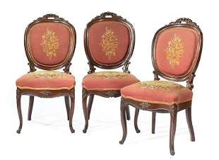 Rosewood and Needlepoint Side Chairs
