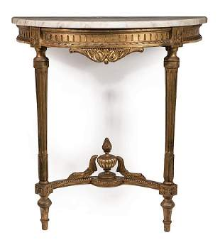 Antique Louis XVI-Style Carved Giltwood Console
