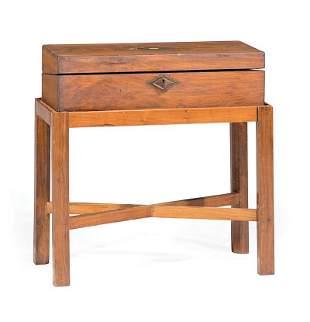 English Inlaid Mahogany Lap Desk