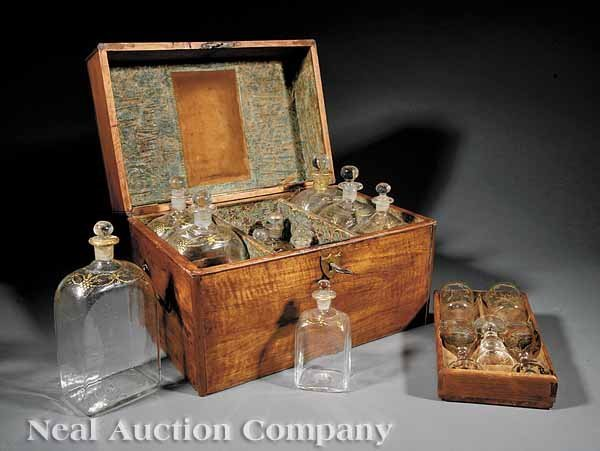 1: Federal Mixed Woods Decanter Box