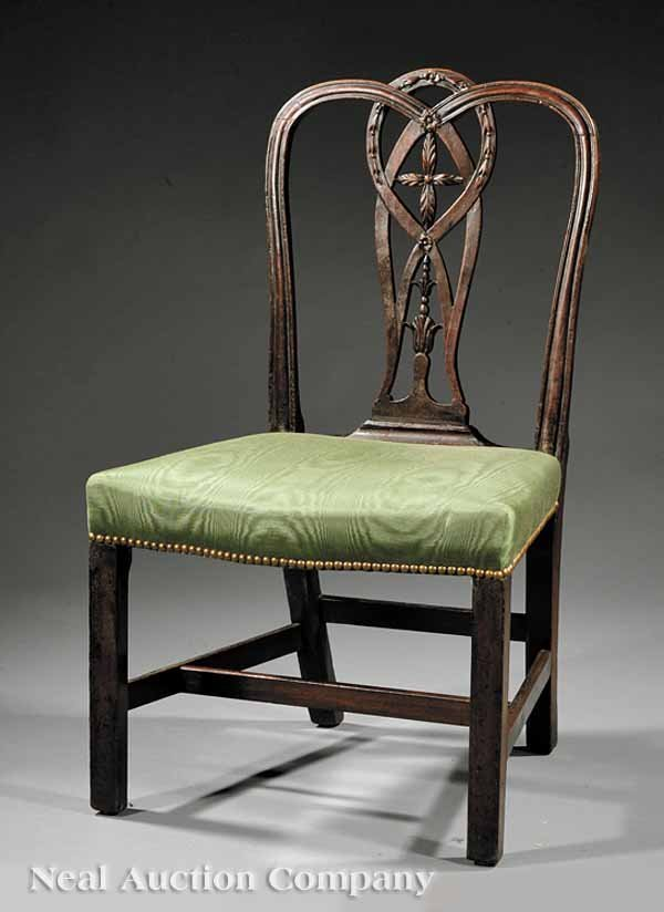 5: Important Federal Carved Mahogany Side Chair