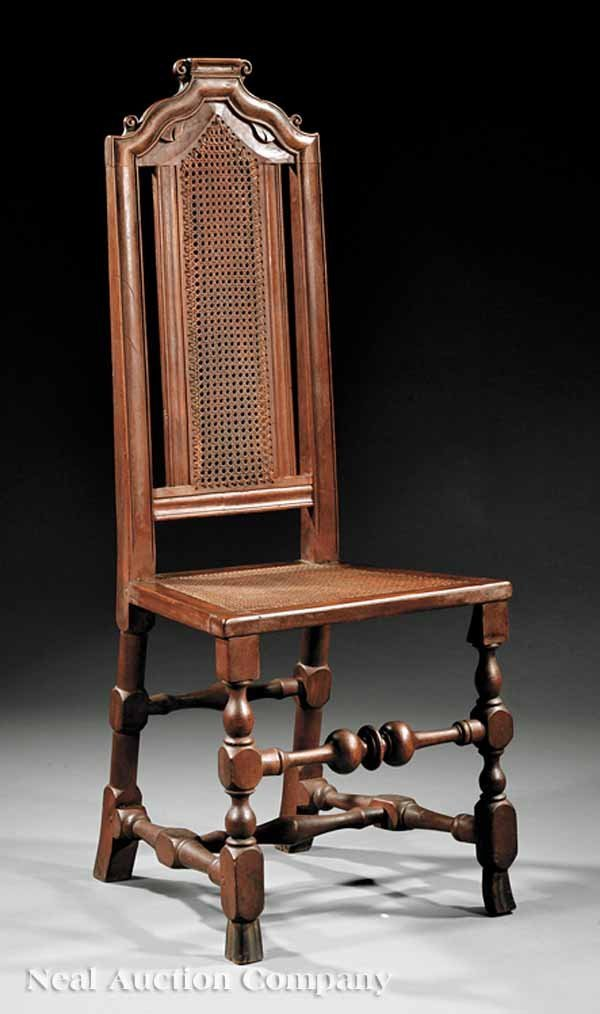 11: Edmond Edes William and Mary Maple Side Chair