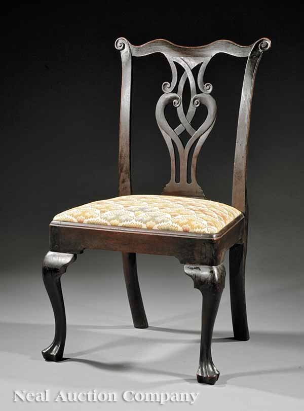 12: American Queen Anne Carved Walnut Side Chair