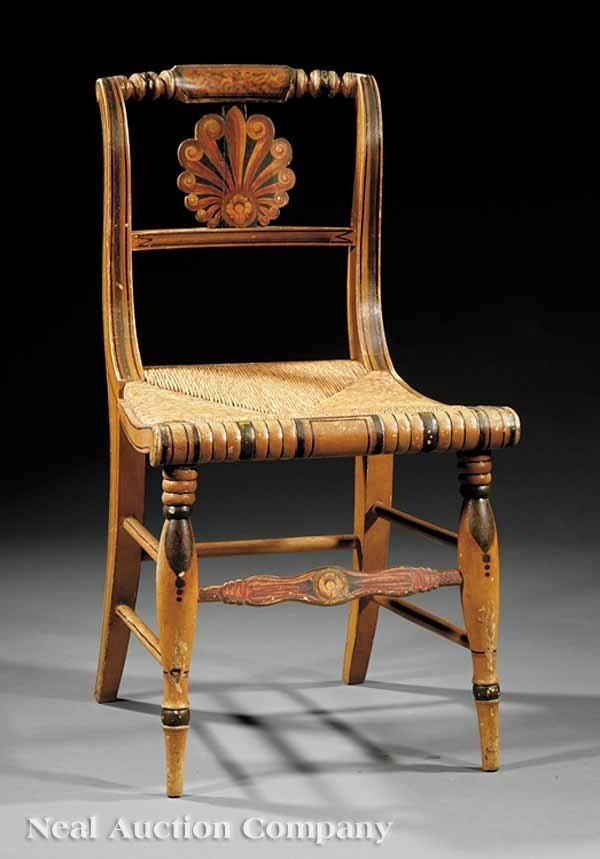 20: American Classical Fancy Painted Side Chair