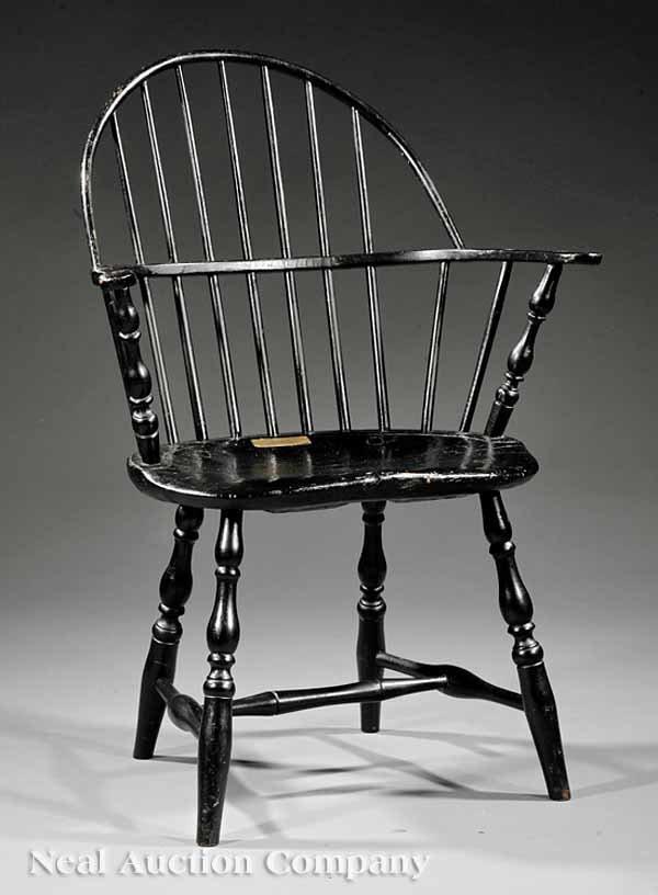 21: Painted Maple, Pine and Hickory Windsor Chair
