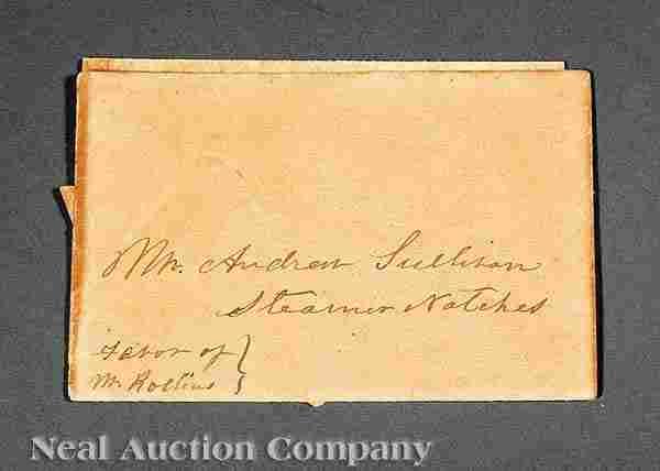 600: Autographed Letter Signed by Jefferson Davis