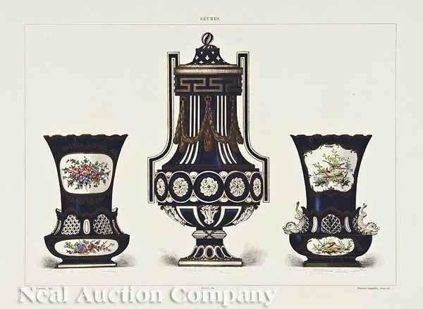 856: Four Chromolithographs of Sevres Porcelain