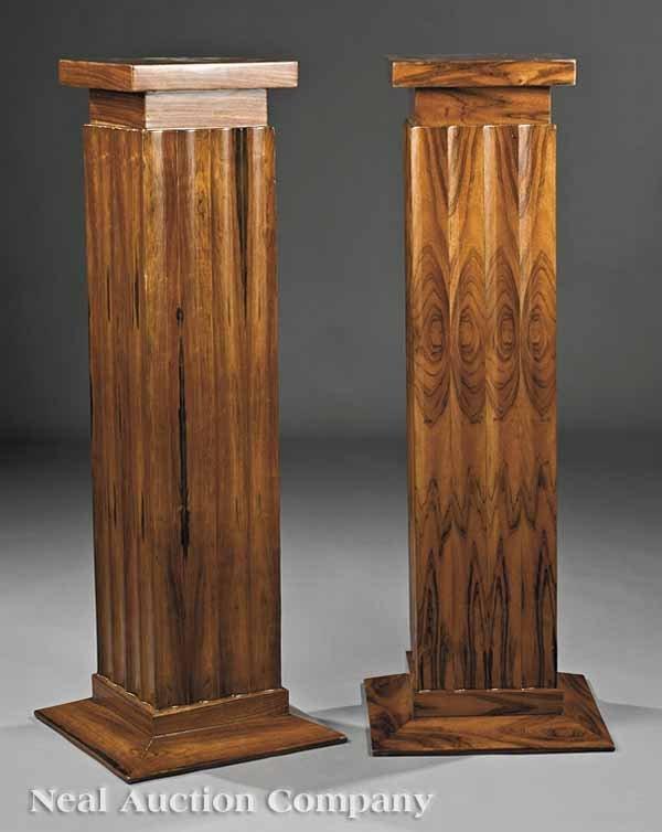 860: Pair of Art Deco-Style Rosewood Pedestals