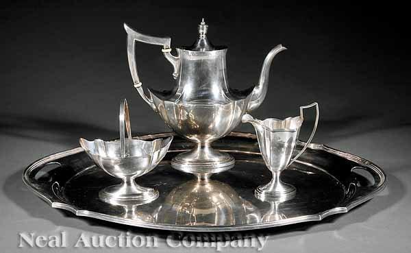 863: Gorham Sterling Silver Tea Set