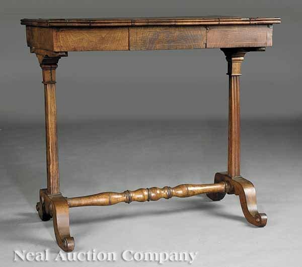 869: Biedermeier Walnut Table