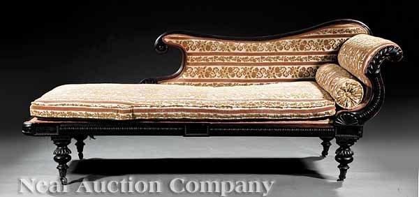 870: English Carved Mahogany Grecian Sofa